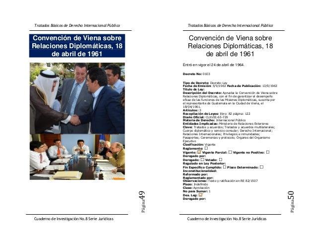 Convención de Viena sobre         Convención de Viena sobreRelaciones Diplomáticas, 18       Relaciones Diplomáticas, 18  ...