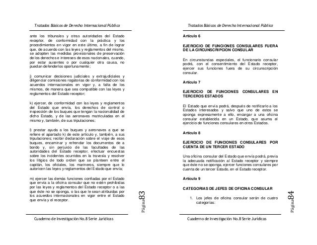 Cuaderno de investigacion 8 tratados basicos de derecho internacional publico