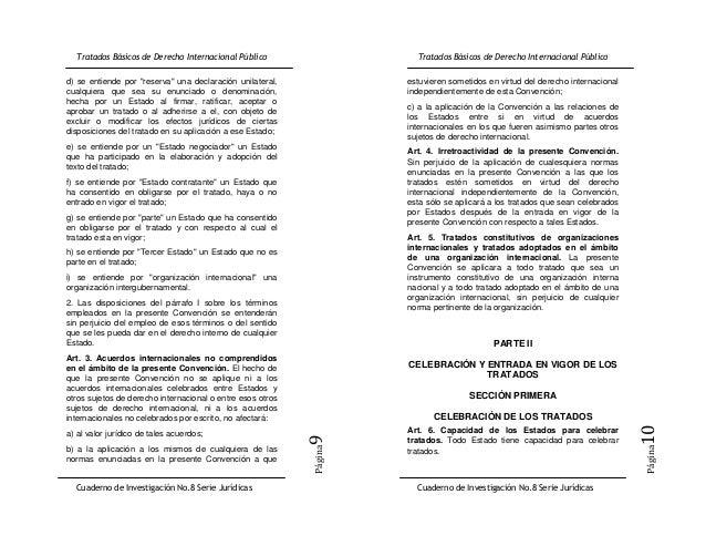"""d) se entiende por """"reserva"""" una declaración unilateral,    estuvieren sometidos en virtud del derecho internacionalcualqu..."""
