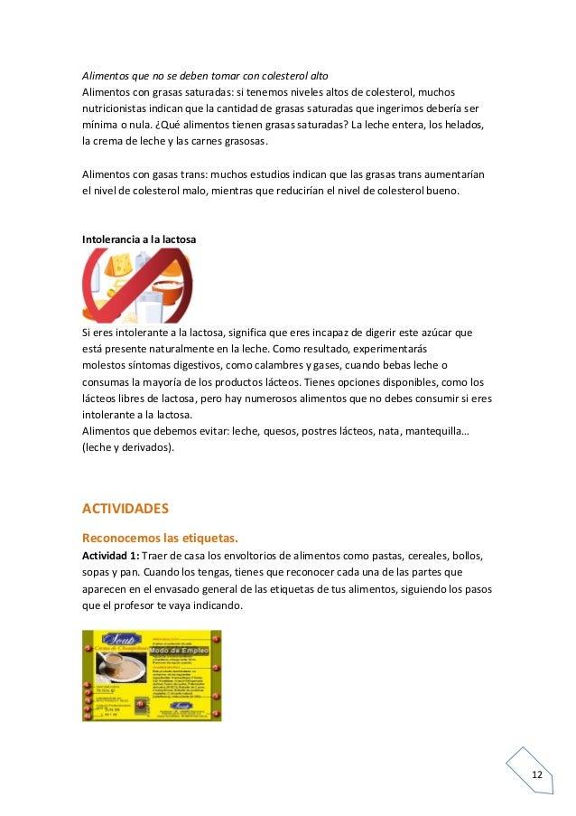 Las etiquetas de los alimentos - Alimentos a evitar con colesterol alto ...