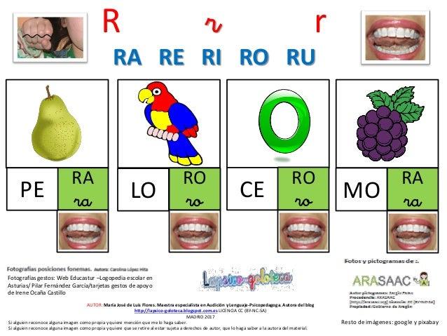 R r r CE RA ra RO ro RO ro RA raMO Resto de imágenes: google y pixabay AUTOR: María José de Luis Flores. Maestra especiali...