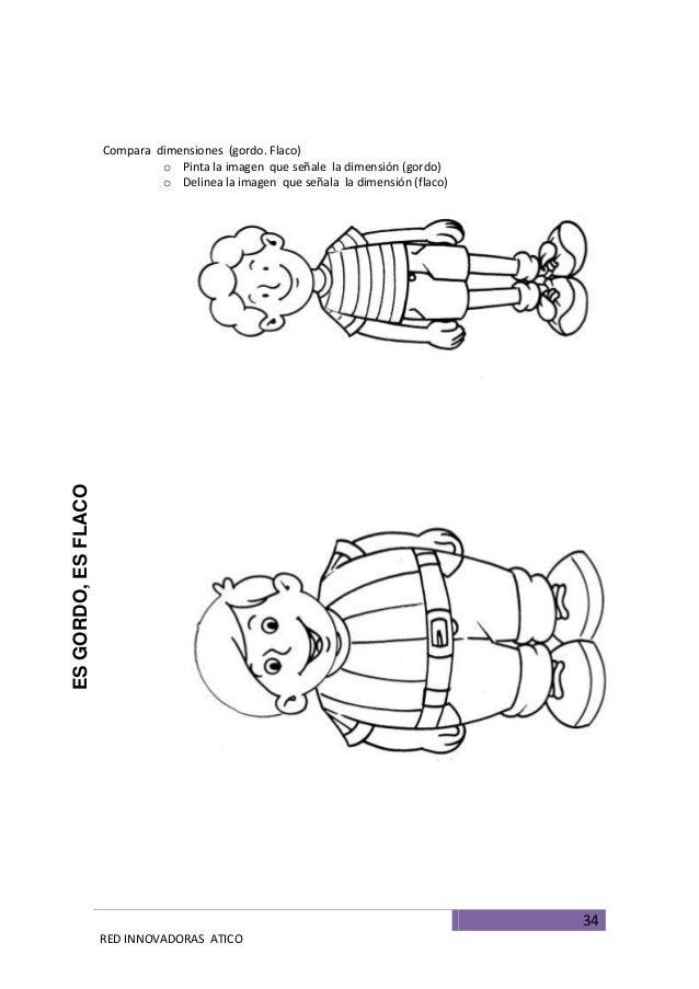 Niños gordos y flacos para colorear - Imagui