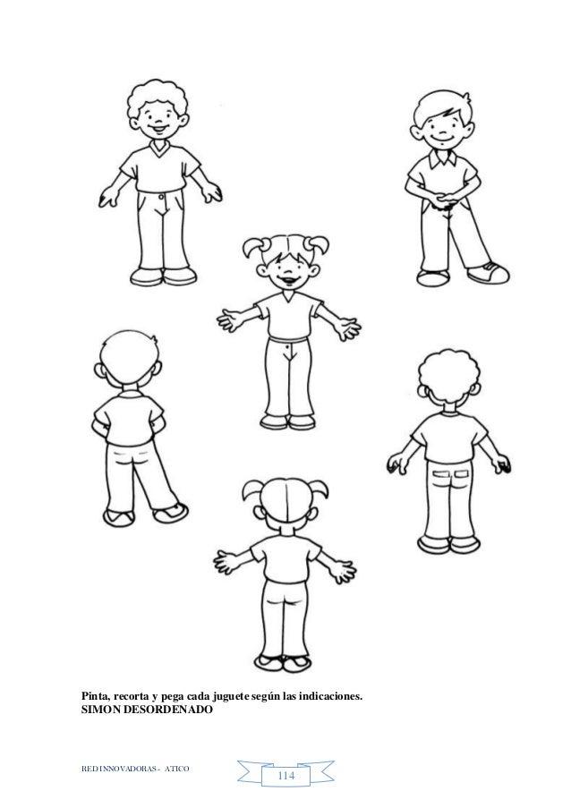 RED INNOVADORAS - ATICO 114 Pinta, recorta y pega cada juguete según las indicaciones. SIMON DESORDENADO