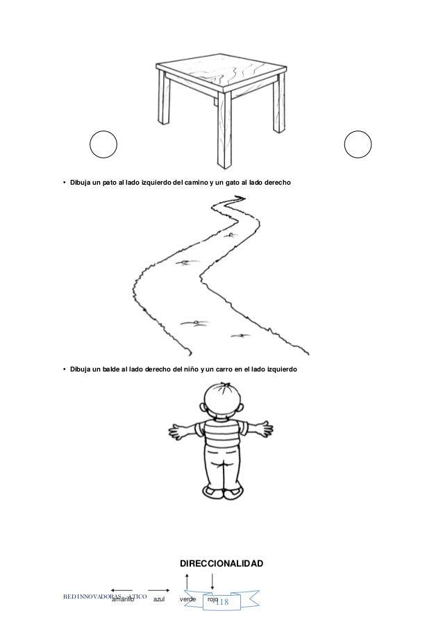 RED INNOVADORAS - ATICO 118 • Dibuja un pato al lado izquierdo del camino y un gato al lado derecho • Dibuja un balde al l...