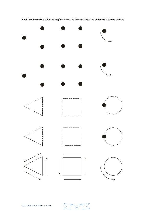 RED INNOVADORAS - ATICO 16 Realiza el trazo de las figuras según indican las flechas, luego las pintan de distintos colore...