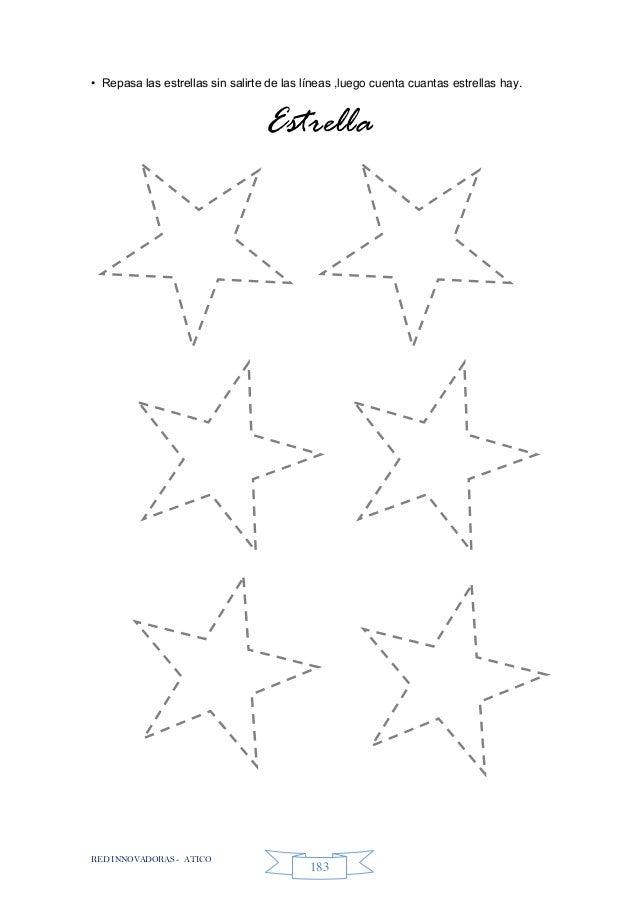 RED INNOVADORAS - ATICO 183 • Repasa las estrellas sin salirte de las líneas ,luego cuenta cuantas estrellas hay. Estrella