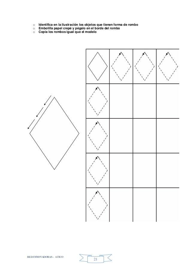 RED INNOVADORAS - ATICO 21 o Identifica en la ilustración los objetos que tienen forma de rombo o Embolilla papel crepé y ...