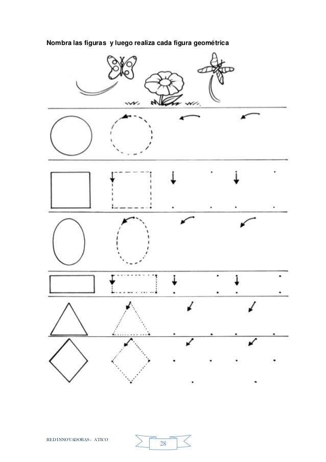 RED INNOVADORAS - ATICO 28 Nombra las figuras y luego realiza cada figura geométrica