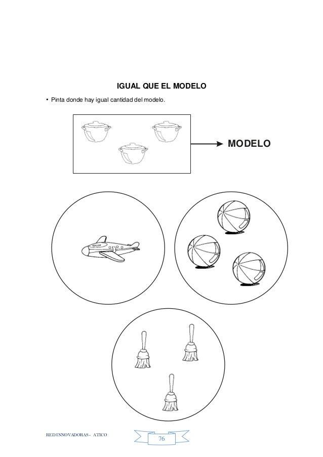 RED INNOVADORAS - ATICO 76 IGUAL QUE EL MODELO • Pinta donde hay igual cantidad del modelo. MODELO
