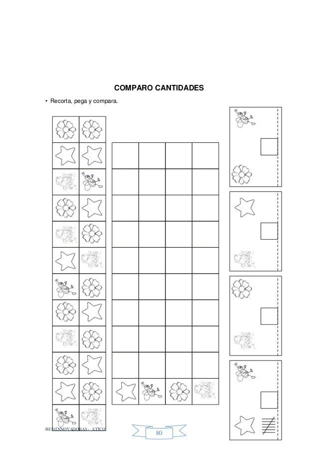 RED INNOVADORAS - ATICO 80 COMPARO CANTIDADES • Recorta, pega y compara.