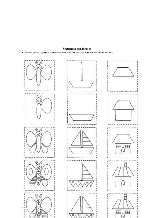 RED INNOVADORAS - ATICO 86 Secuencia por formas • Recorta, ordena y pega la secuencia en forma creciente de cada dibujo en...