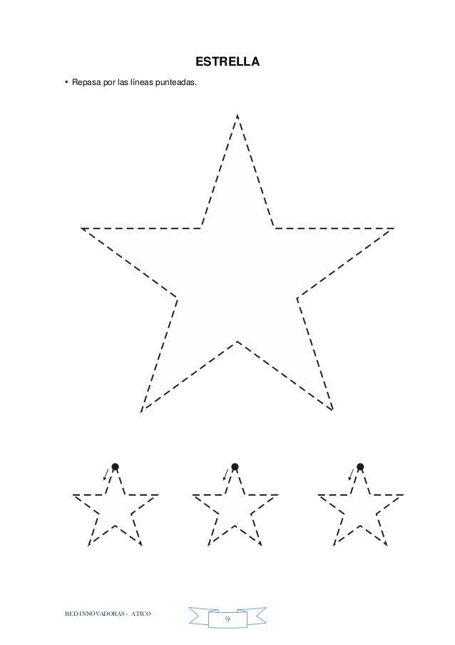 RED INNOVADORAS - ATICO 9 ESTRELLA • Repasa por las líneas punteadas.