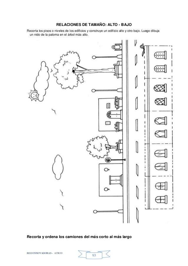 RED INNOVADORAS - ATICO 93 RELACIONES DE TAMAÑO: ALTO - BAJO Recorta los pisos o niveles de los edificios y construye un e...