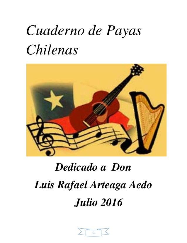 Cuaderno De Payas Chilenas