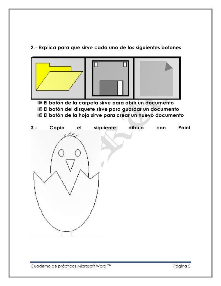 Cuaderno de prácticas de microsoft word