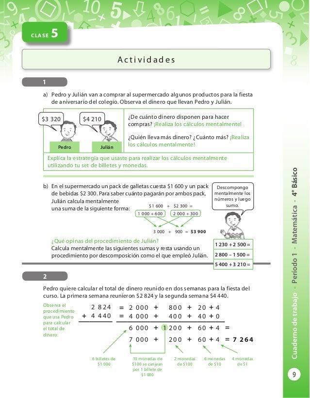 Cuaderno de trabajo 4 básico matematicas diarioeducacion