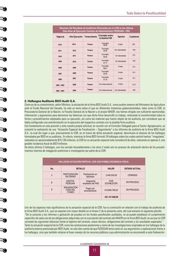 PRIMER SEMESTRE DE 2015 12 Todo Sobre la Parafiscalidad 3. Certificación AsistenciaTécnica Gremial 2013-2014 / Interventor...