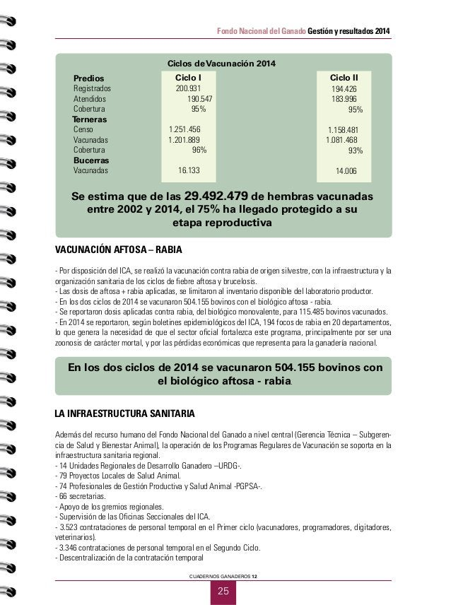 PRIMER SEMESTRE DE 2015 26 Fondo Nacional del Ganado Gestión y resultados 2014 DESARROLLO DE PROYECTOS SANITARIOS FEDEGÁN ...