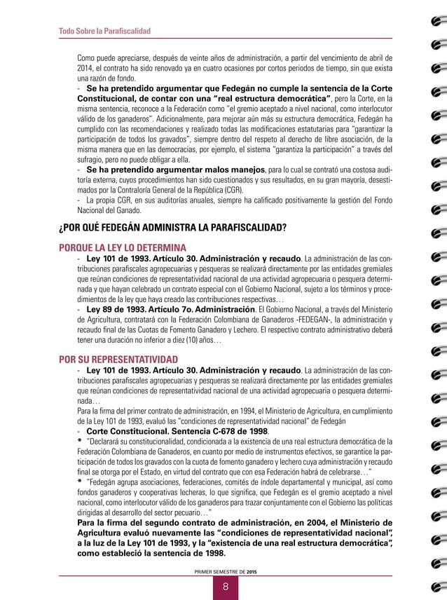 Todo Sobre la Parafiscalidad - Las Mesas de Trabajo realizadas durante 2014, con participación del MADR, la Oficina de Tr...