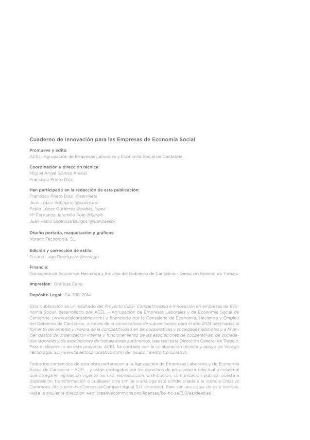 Cuaderno Innovación Empresas de Economía Social Slide 2