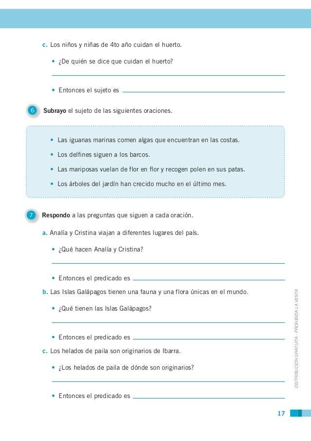Cuaderno de trabajo lengua cuarto a o for Oraciones con la palabra beta