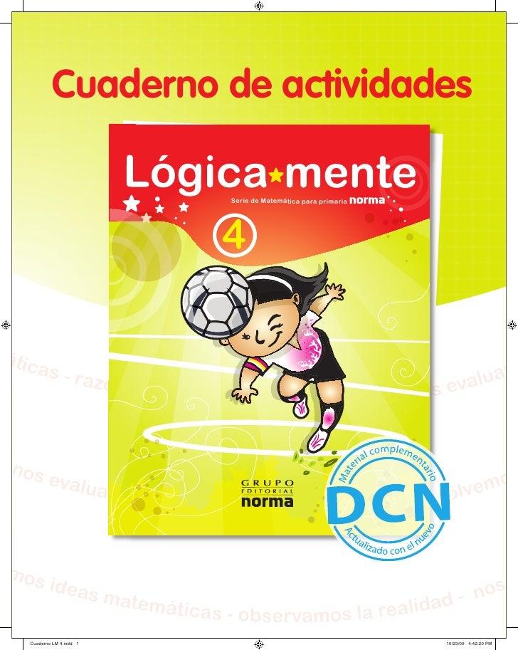 Cuaderno de actividades                                              Serie de Matemática para primaria                    ...