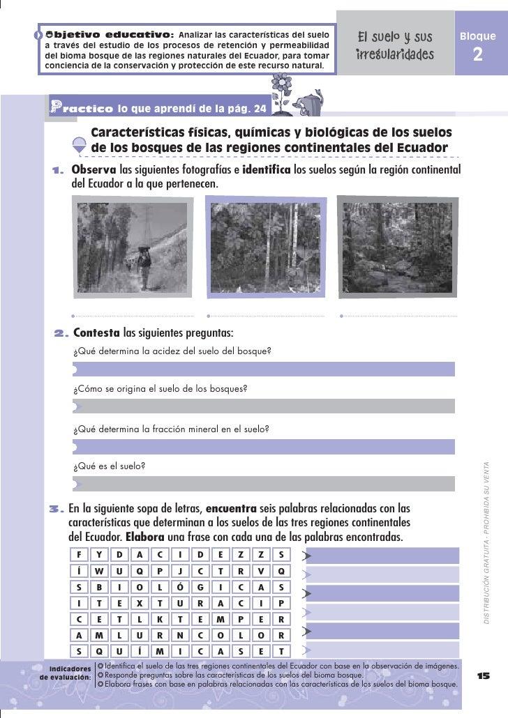 Cuaderno naturales septimo ano for Caracteristicas de los suelos