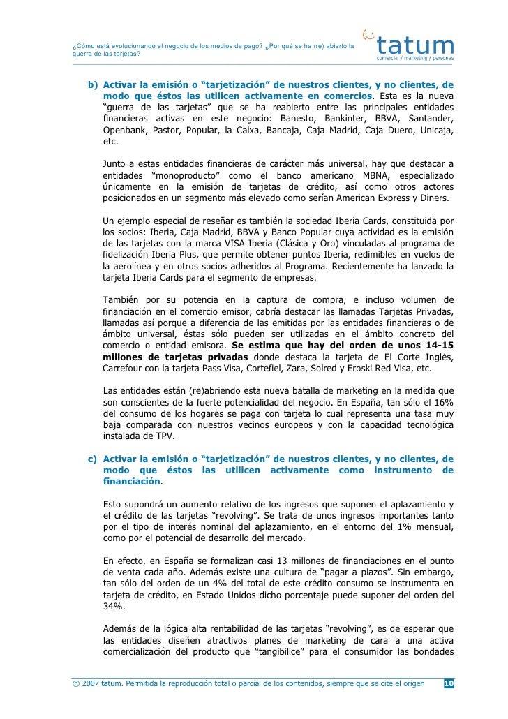Cuaderno opinion tatum evoluci n de los medios de pago 2007 for Openbank oficina madrid