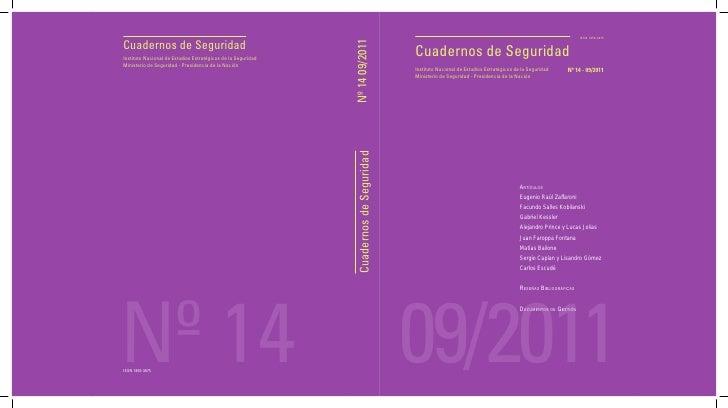 ISSN 1850-3675Cuadernos de Seguridad                                                              Nº 14 09/2011Instituto N...