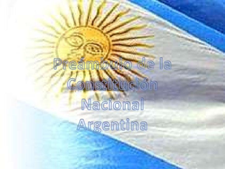 Nos losrepresentantes delpueblo de la Nación    Argentina