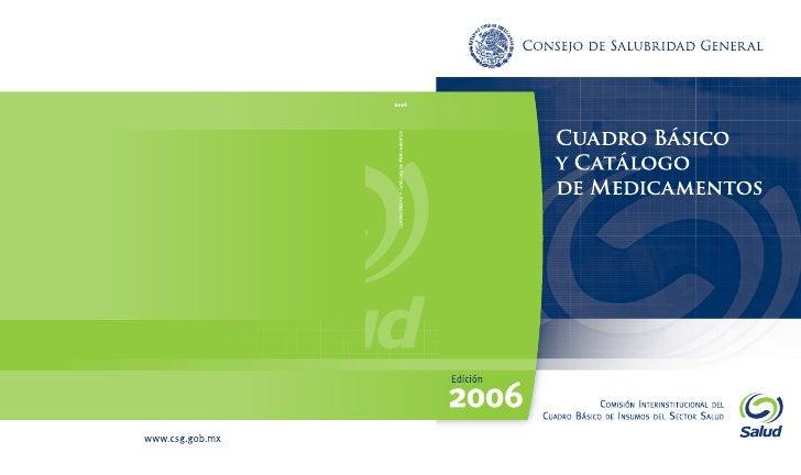 Cuadro BáSico De Medicamentos 2006