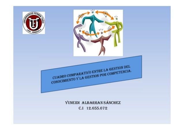 YUNEIDI ALBARRAN SÁNCHEZ      C.I 12.655.672