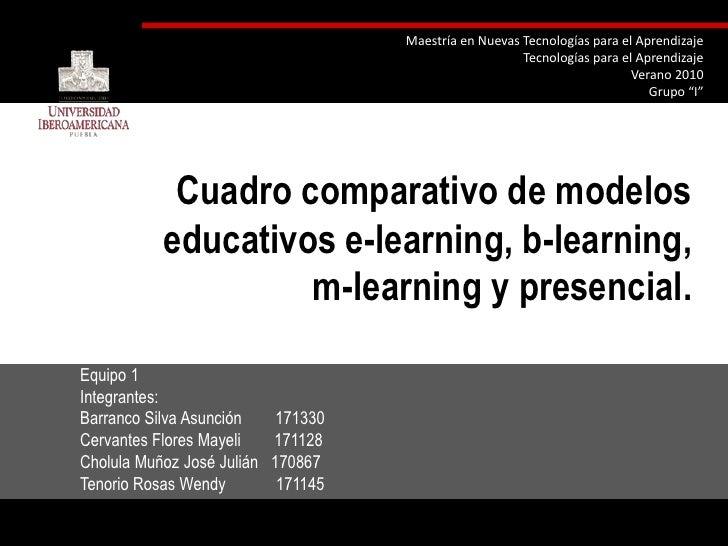 """Maestría en Nuevas Tecnologías para el Aprendizaje<br />Tecnologías para el Aprendizaje<br />Verano 2010<br />Grupo """"I""""<br..."""