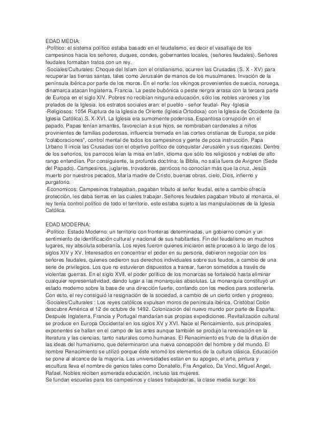 Cuadro comparativo edad media y moderna - Diferencia entre arquitectura moderna y contemporanea ...