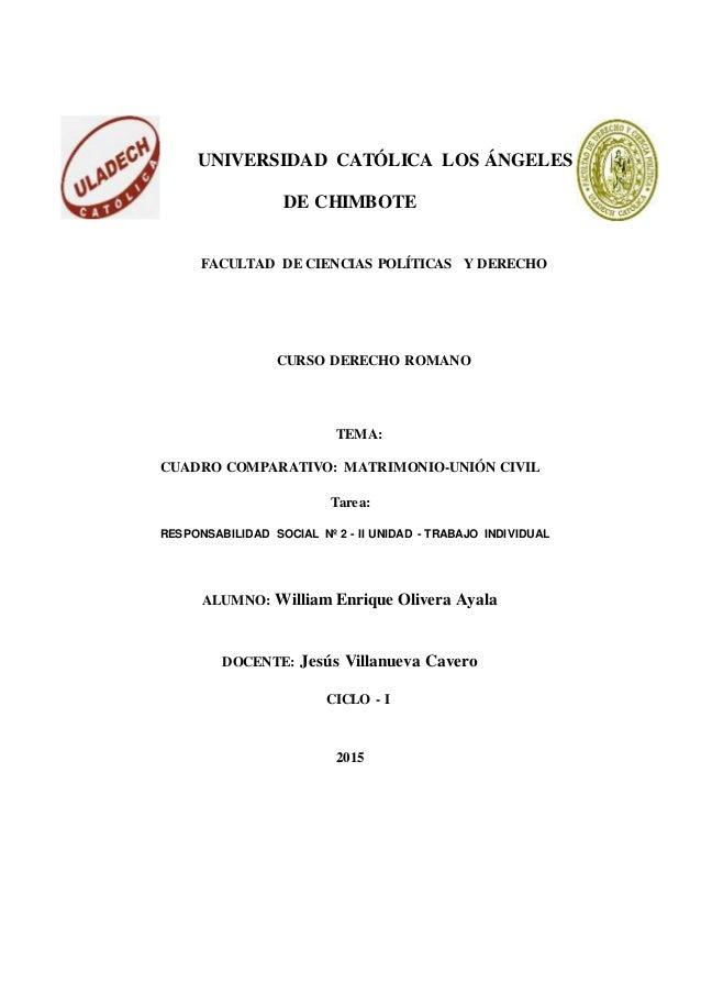 Cuadro Comparativo Matrimonio Romano Y Venezolano : Cuadro comparativo entre el matrimonio y la union civil