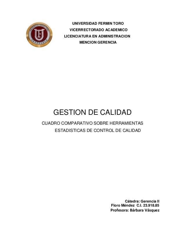 UNIVERSIDAD FERMIN TORO          VICERRECTORADO ACADEMICO        LICENCIATURA EN ADMINISTRACION              MENCION GEREN...