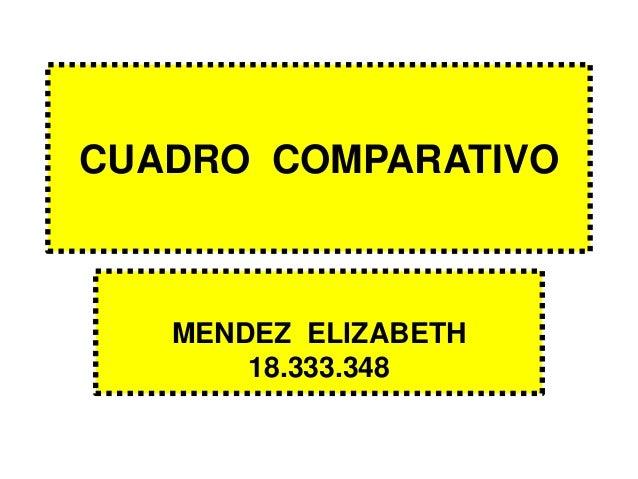 CUADRO COMPARATIVO MENDEZ ELIZABETH 18.333.348