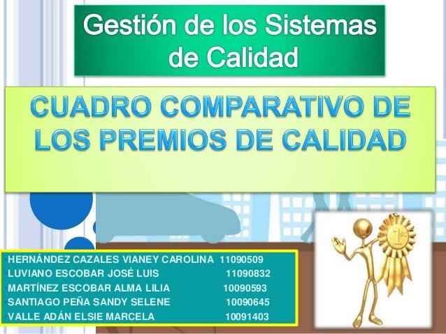 •HERNÁNDEZ CAZALES VIANEY CAROLINA 11090509 •LUVIANO ESCOBAR JOSÉ LUIS 11090832 •MARTÍNEZ ESCOBAR ALMA LILIA 10090593 •SAN...