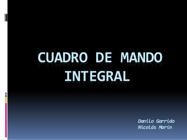 CUADRO DE MANDO INTEGRAL Danilo Garrido Nicolás Marín