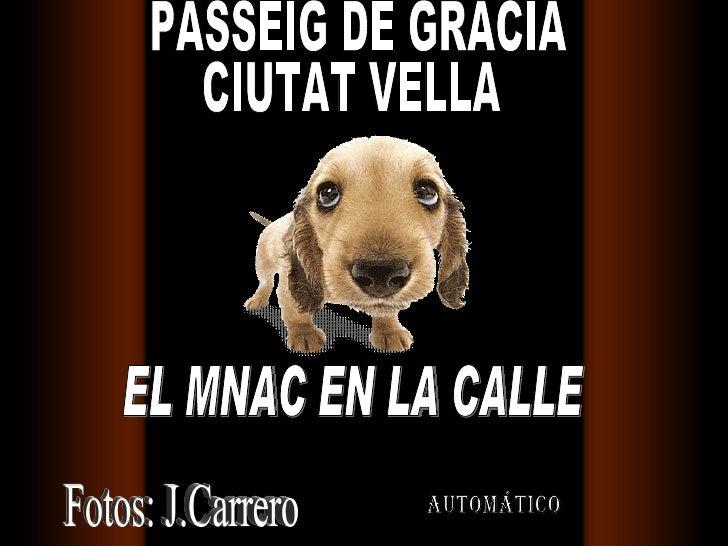 automático EL MNAC EN LA CALLE Fotos: J.Carrero PASSEIG DE GRACIA CIUTAT VELLA