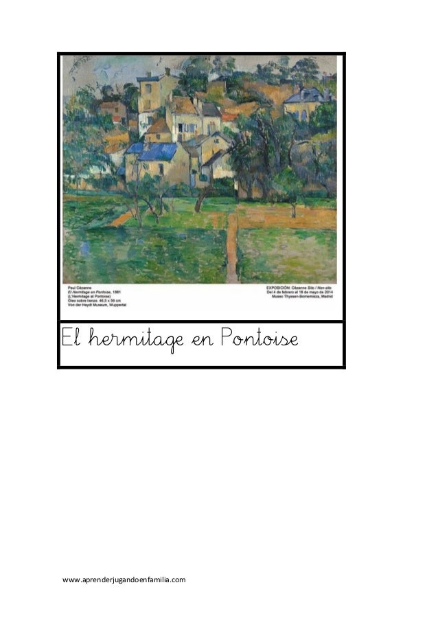 www.aprenderjugandoenfamilia.com El hermitage en Pontoise