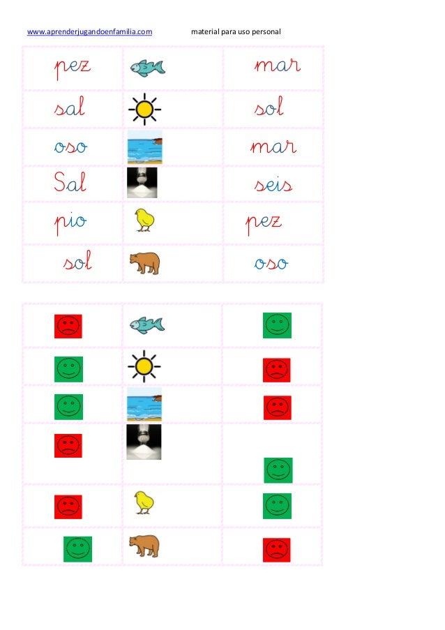 www.aprenderjugandoenfamilia.com material para uso personal pez mar sal sol oso mar Sal seis pio pez sol oso