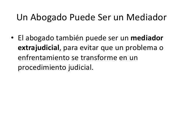 El abogado for Que es un proceso extrajudicial