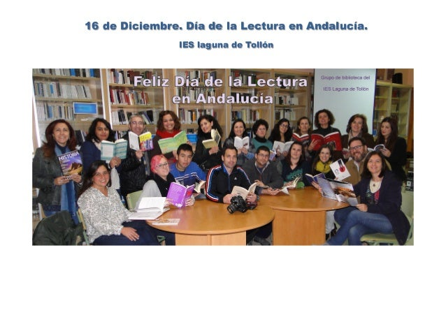 16 de Diciembre. Día de la Lectura en Andalucía. IES laguna de Tollón