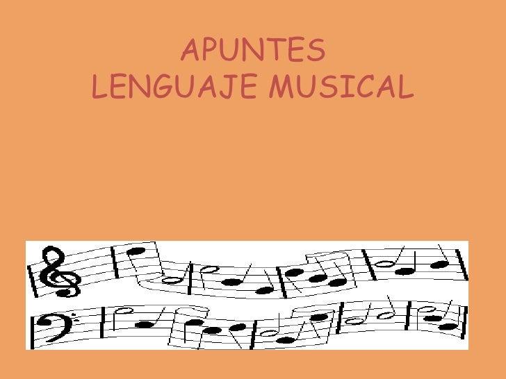 APUNTESLENGUAJE MUSICAL