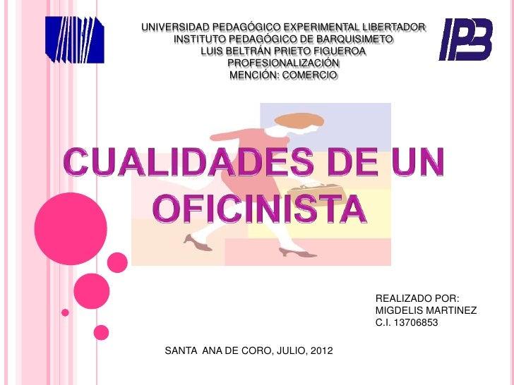 UNIVERSIDAD PEDAGÓGICO EXPERIMENTAL LIBERTADOR     INSTITUTO PEDAGÓGICO DE BARQUISIMETO          LUIS BELTRÁN PRIETO FIGUE...
