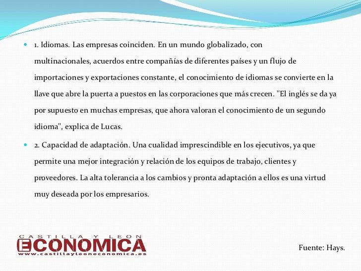 Las 10 cualidades que las empresas de Castilla y León buscan en sus empleados Slide 2