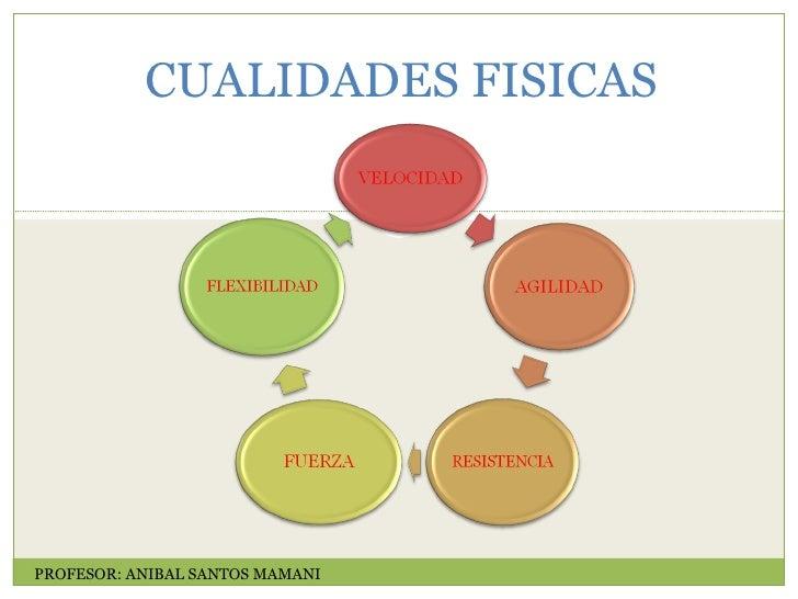 CUALIDADES FISICAS PROFESOR: ANIBAL SANTOS MAMANI