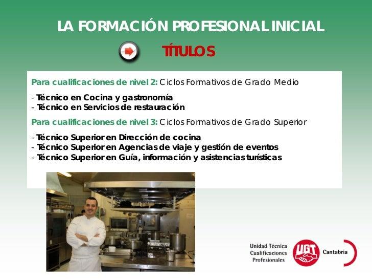 Cualificaciones profesionales y hosteler a y turismo - Grado superior cocina ...
