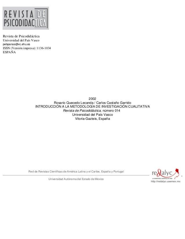 Revista de PsicodidácticaUniversidad del País Vascopebpanas@vc.ehu.esISSN (Versión impresa): 1136-1034ESPAÑA              ...